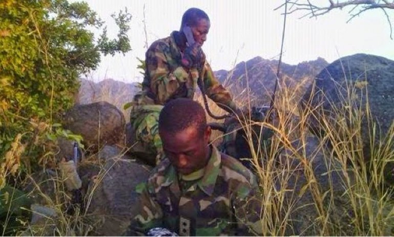 See how Sambisa forest looks like + Pic of soldiers fighting Boko Haram there