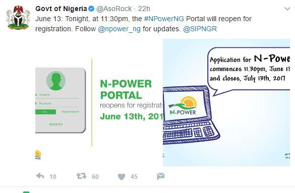 N Power Portal Source: N-Power Portal
