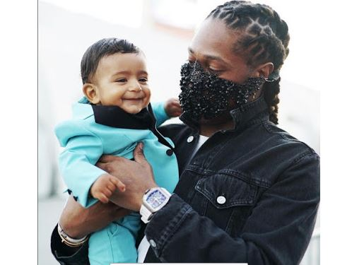 future pictured with dj khaled and his celebrity son