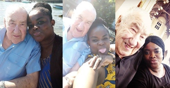 i met my husband through Yahoo Yahoo Lady who is married to a 90-year-old white man reveals how she met him