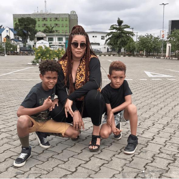 adunni Ade and kids