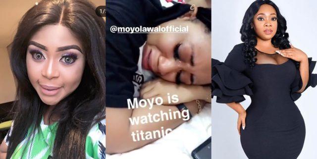 Actress, Moyo Lawal Cries While Watching Titanic, Mimi Orjikweng, Moesha Boduong Others React (Video)
