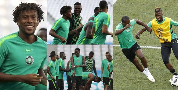 World Cup 2018: Super Eagles training ahead of clash against Iceland today. (photos)