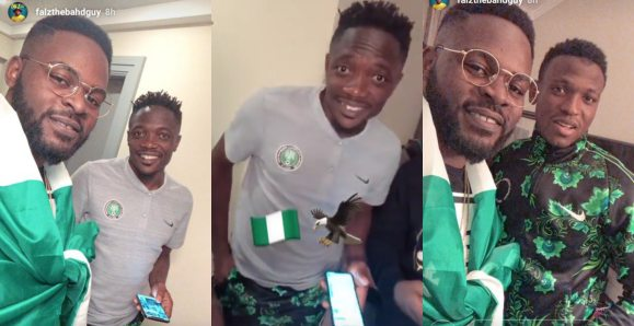 Falz Shows 'Naija Spirit' In Russia With Ahmed Musa, Others