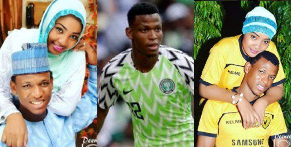 Super Eagles player battered his wife for not receiving her call in his presence (pics)