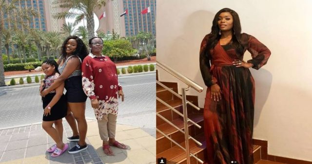Bisola Aiyeola on vacation with her mother & daughter at United Arab Emirates