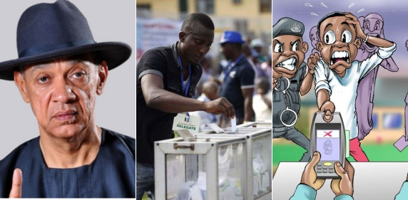 Ben Bruce Says Voting Should Be By SMS; Nigerians React (Photos)