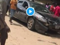Young man high on codeine crushes a woman's leg in Lagos (Video)