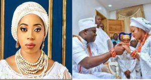 Olori Wuraola congratulates ooni of ife