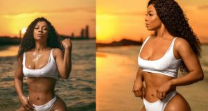 Toke Makinwa bares it all In bikini as she turns 34