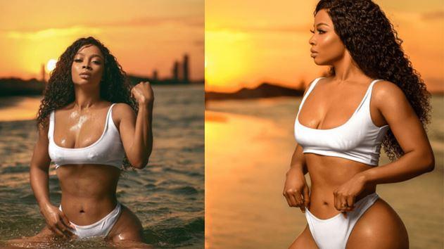 Toke Makinwa bares it all In bikini as she turns 34