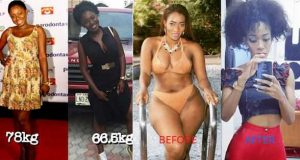 Nigerian female celebrities that lost weight