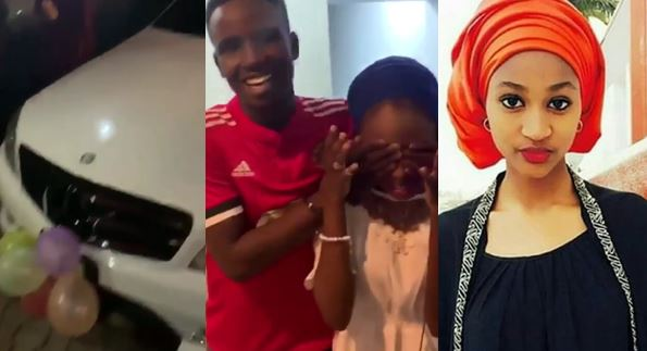 Image result for 100 level student buys Benz for his 16-year-old SS3 Girlfriend, an iPhone X Max, iWatch, in Abuja for her birthday (video)