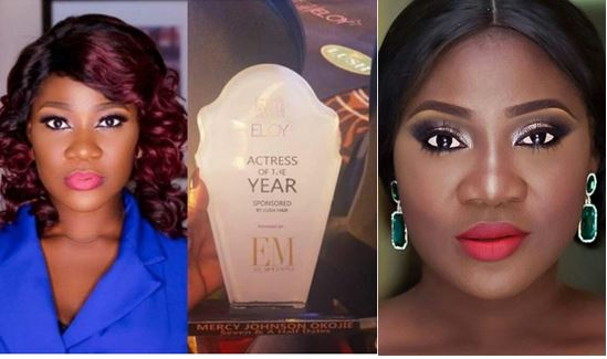 Image result for Mercy Johnson Wins Actress Of The Year.