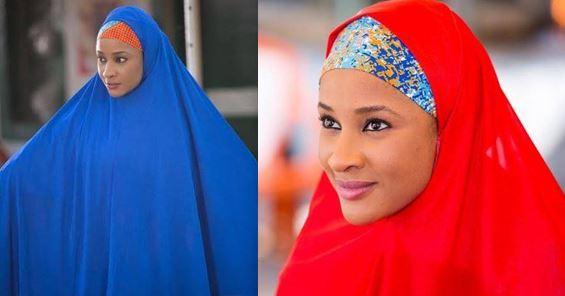 Adesua Etomi Wellington rocks hijab in new photos