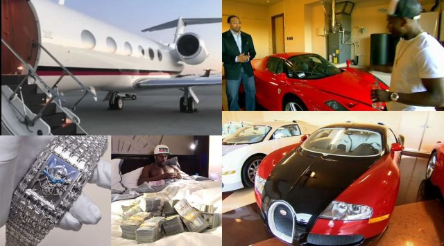 Floyd Mayweather flaunts his wealth