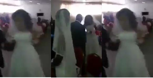 Side chick appears at boyfriend's wedding in a wedding gown