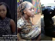 Lady who 'ran mad' after being dropped by Lexus SUV in Ijebu Ode