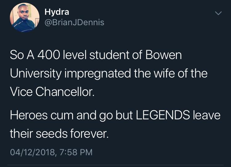 Bowen University student