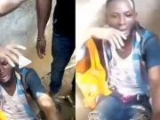 Yahoo boy caught while trying to steal underwear for ritual purposes in Edo (Video)