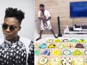 Reekado Banks gets 25 cakes from brother on 25th birthday