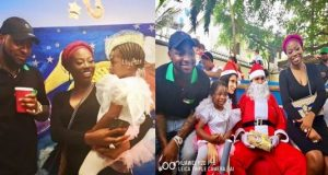 Davido and Sophia Momodu attend their daughter's school
