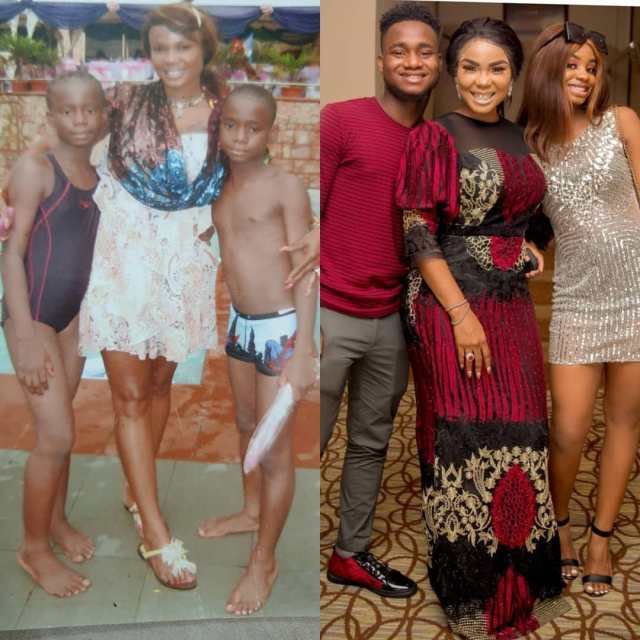 Iyabo Ojo and her kids