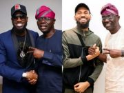 Sanwo-Olu hosts D'banj, Phyno, KSA and Nollywood actors (Photos)