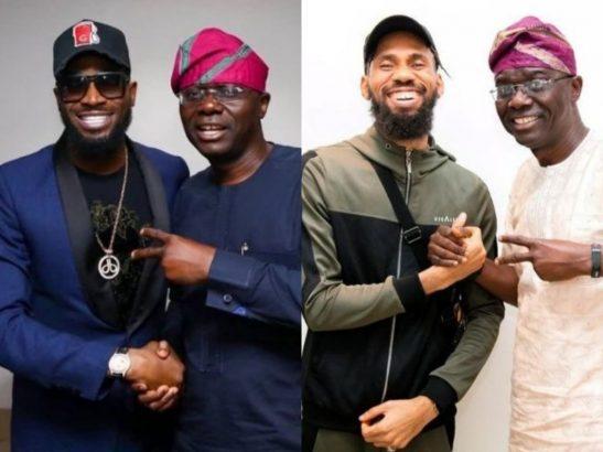 Sanwo-Olu hosts D'banj, Phyno, KSA and Nollywood actors (Photos)