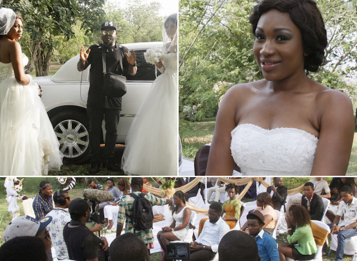Actress Ebube Nwagbo rocks topless wedding gown in Anniversary movie ...