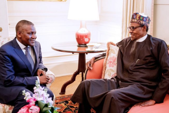 Dangote and Buhari