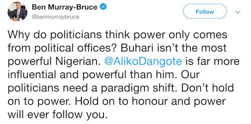 Senator Ben Murray Bruce tweet
