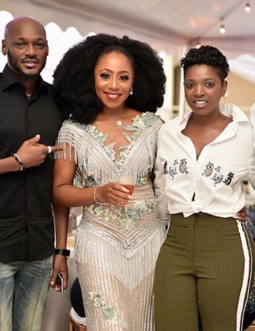 2Baba (Tuface) and wife, Annie Idibia at Dakore Egbuson Akande's birthday party