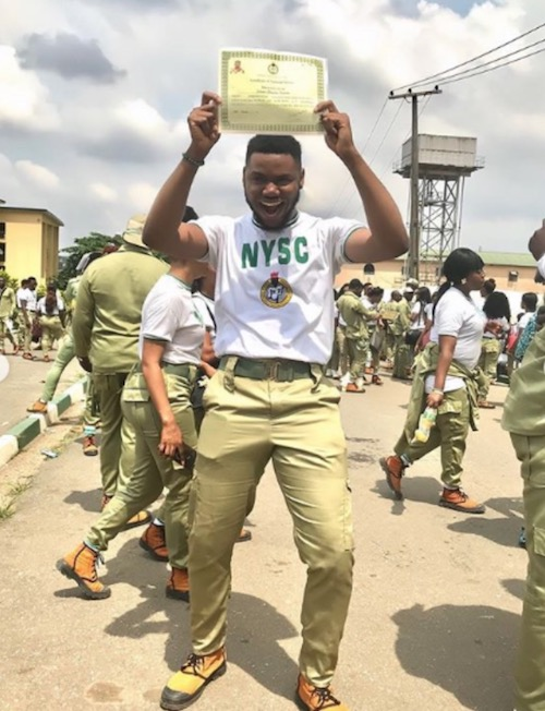 Regina Daniels boyfriend, Somadina passes out from NYSC