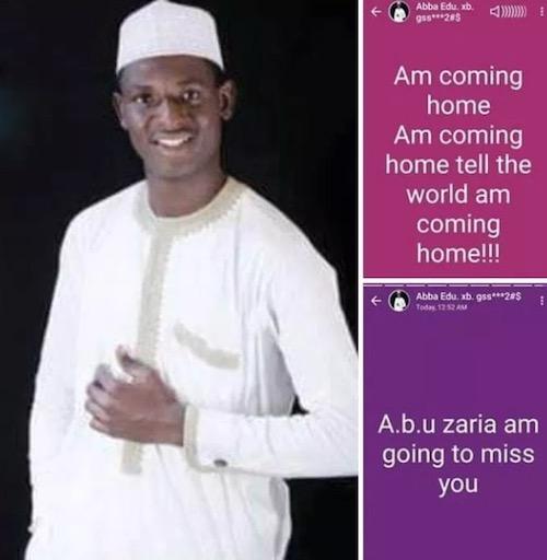 Tell the world I'm coming home - Abba Isha Musa