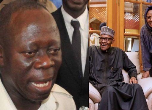 Adams Oshiomhole humiliated by Aisha Buhari