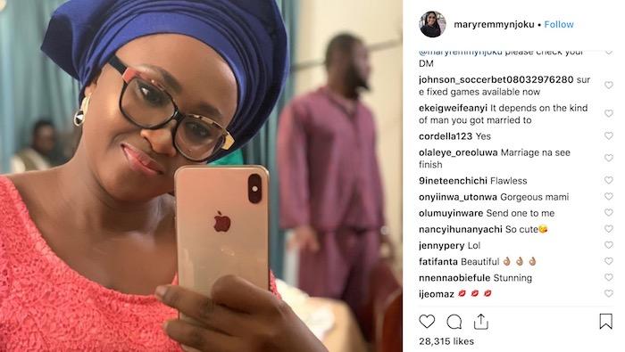 Mary Njoku's marital problem post on Instagram