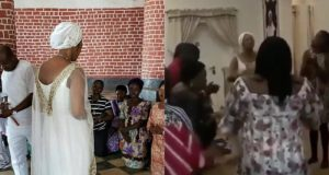 Olori Shilekunola Naomi turns Ife palace to Church