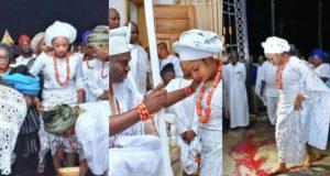 Olori Shilekunola Naomi Ogunwusi stepped on Osun (camwood) not blood
