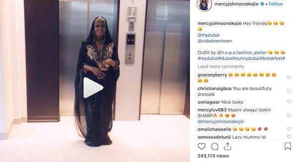 Mercy Johnson Dubai video