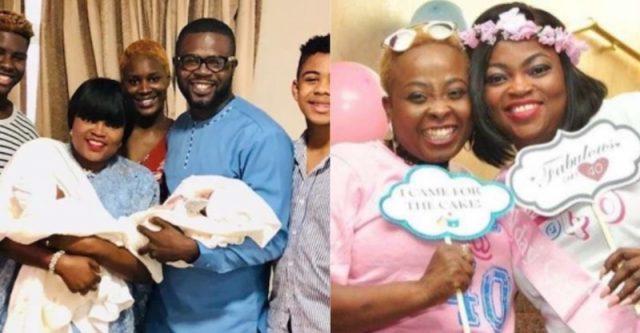 Funke Akindele's twins
