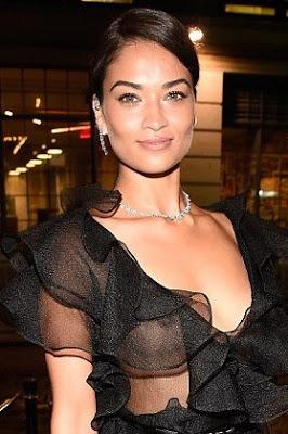 oh my god model shanina shaik exposes nipples at the met
