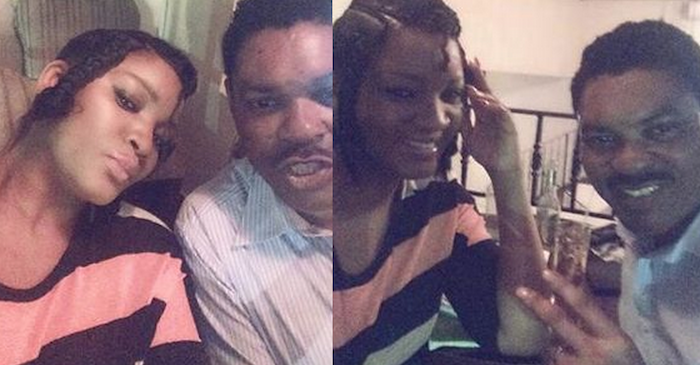 Omotola and husband take some cute selfies together (See Photos) theinfong.com 700x365