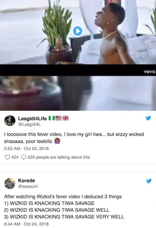 It is obvious Wizkid is sleeping with Tiwa Savage - Nigerians react