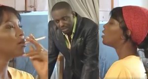 When Genevieve Nnaji was still smoking cigarette