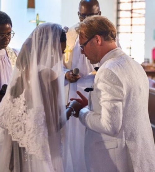 Ada Slim and husband, Karl K wedding vows