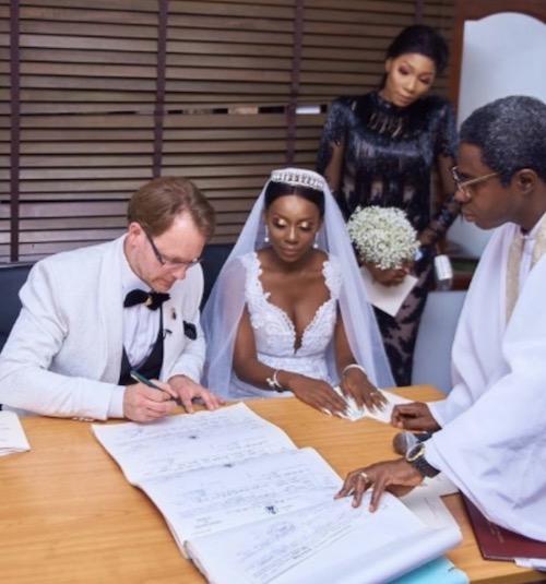 Ada Slim and Karl sign registry