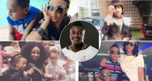 Asamoah Gyan takes his wife to court, denies kids