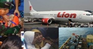 Rescuers find baby floating after Lion Airplane crash - Indonesia