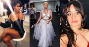 Tiwa Savage, Nicki Minaj and Camila Cabello at MTV EMA 2018